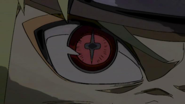 sage mode and kyuubi chakra mixed the eye looked like a cross though    Sage Mode And Kyuubi Mode