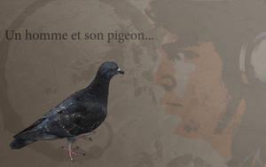 Un homme et son pigeon by puka23