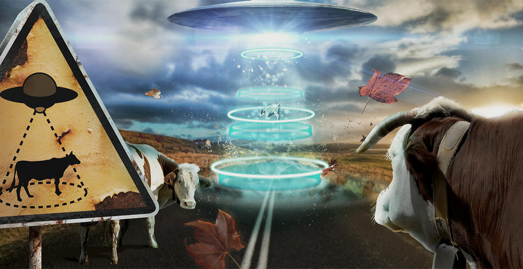 Ufo cows by gaia2013