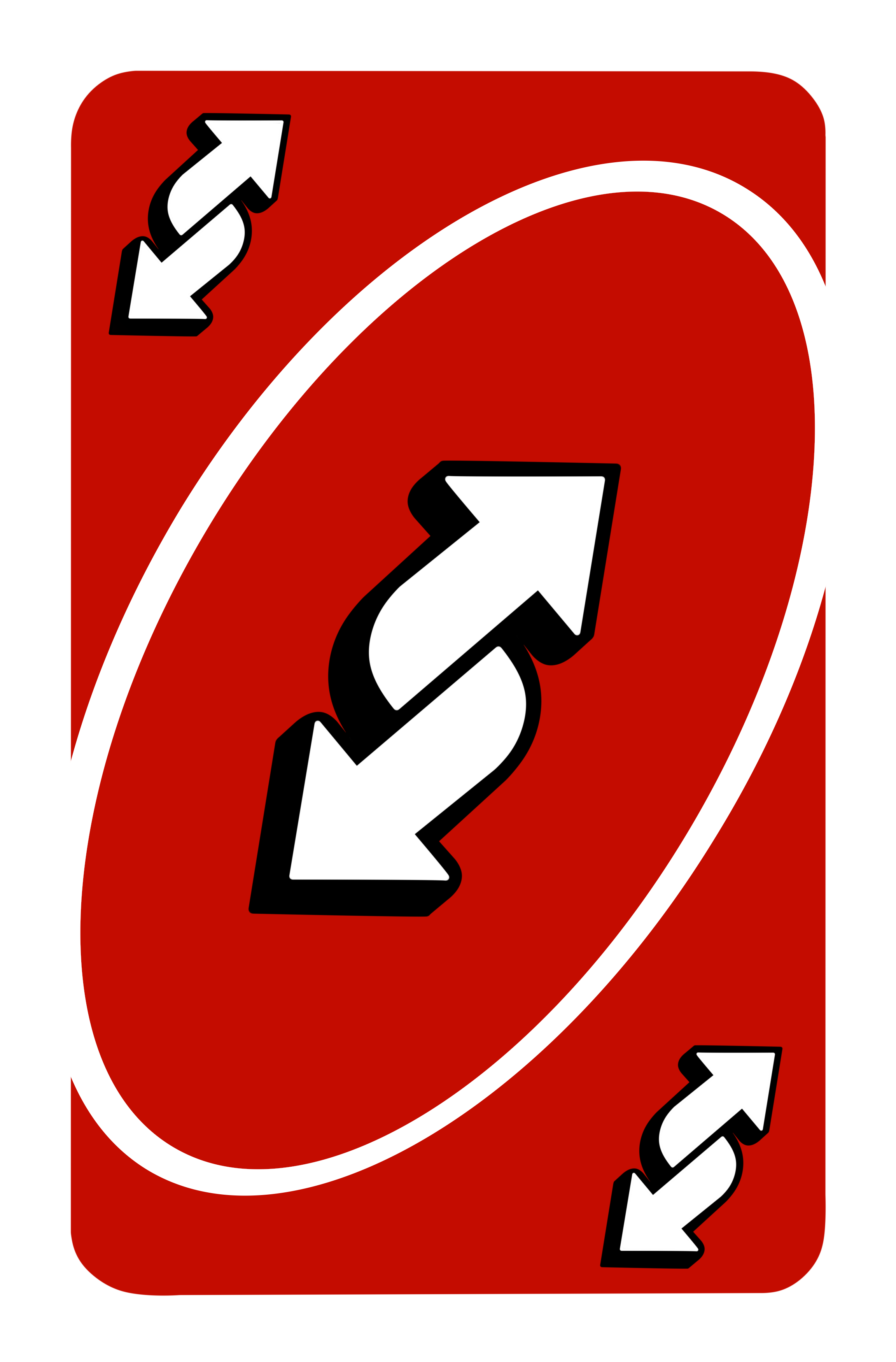 2304x3500 px Red Uno Reverse Card (4k)