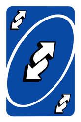2304x3500 px Blue Uno Reverse Card (4k)