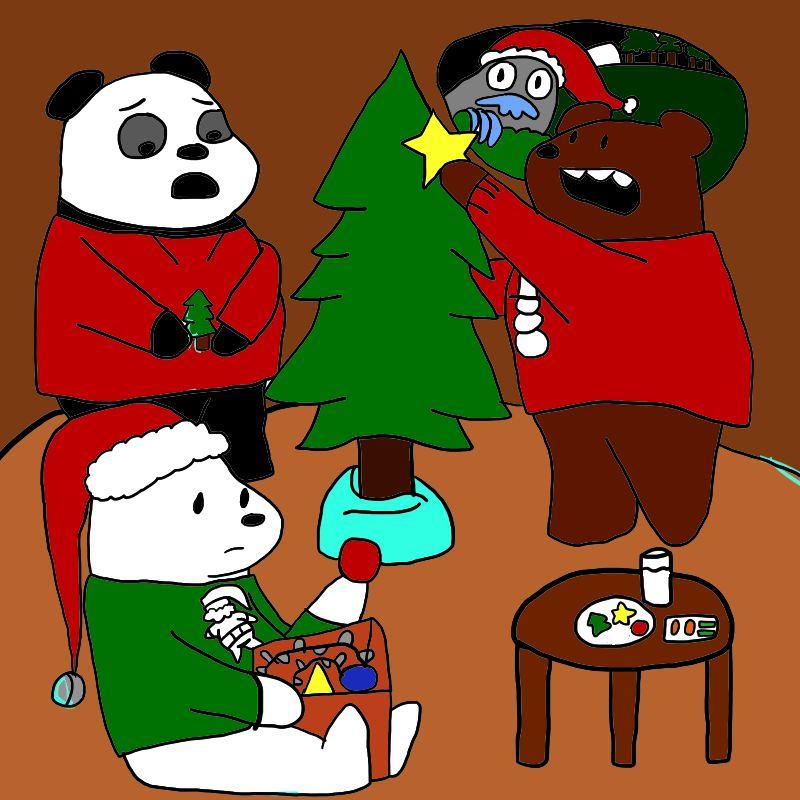 we bare bears christmas wallpaper - photo #8