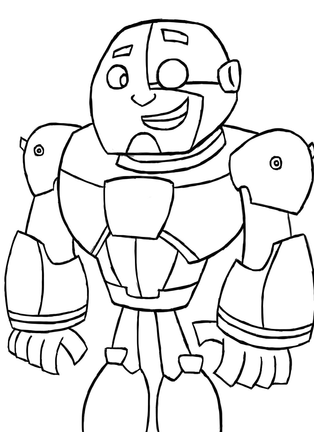 Teen titans go cyborg by juliangutierrez on deviantart for Teen titans coloring pages