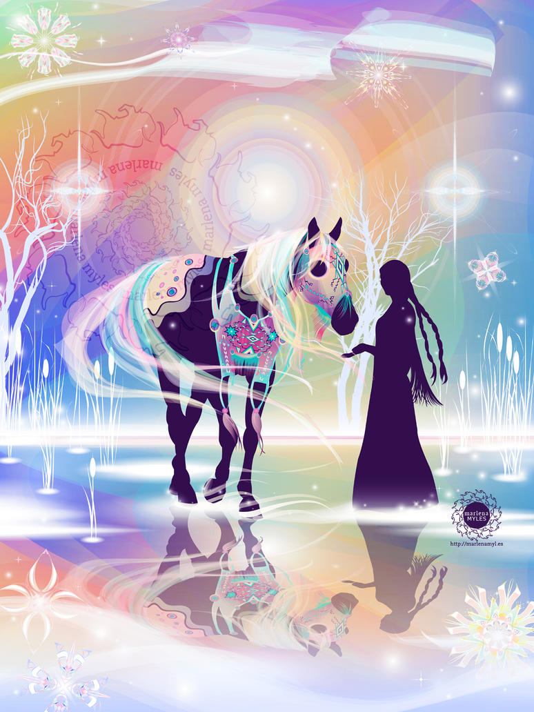 Northern Lights' Horse by mmyles
