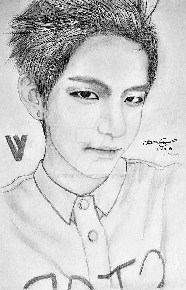 Gallery Of Bts Taehyung Drawing K Pop Amino V Drawing Bts Easy