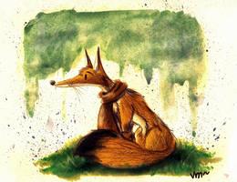 Travelling fox by karpfinchen