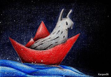 Schneckenboot by karpfinchen
