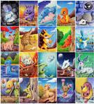Pokemon ATCs by karpfinchen