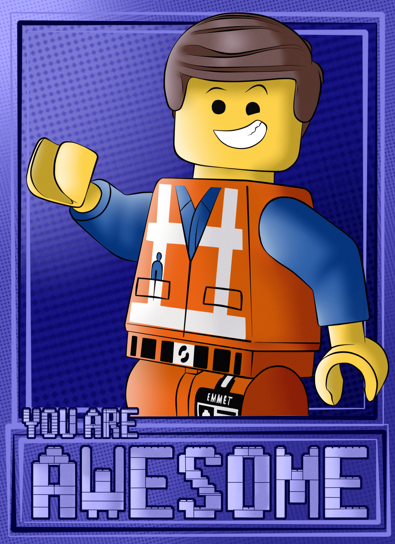 Lego Movie Emmet You Are Awesome Fan Art By Theofficialrobertman On Deviantart