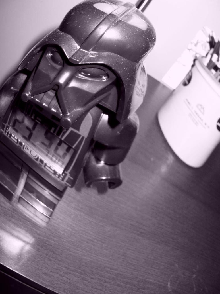 dark vader lego alarm clock by infinitefluff