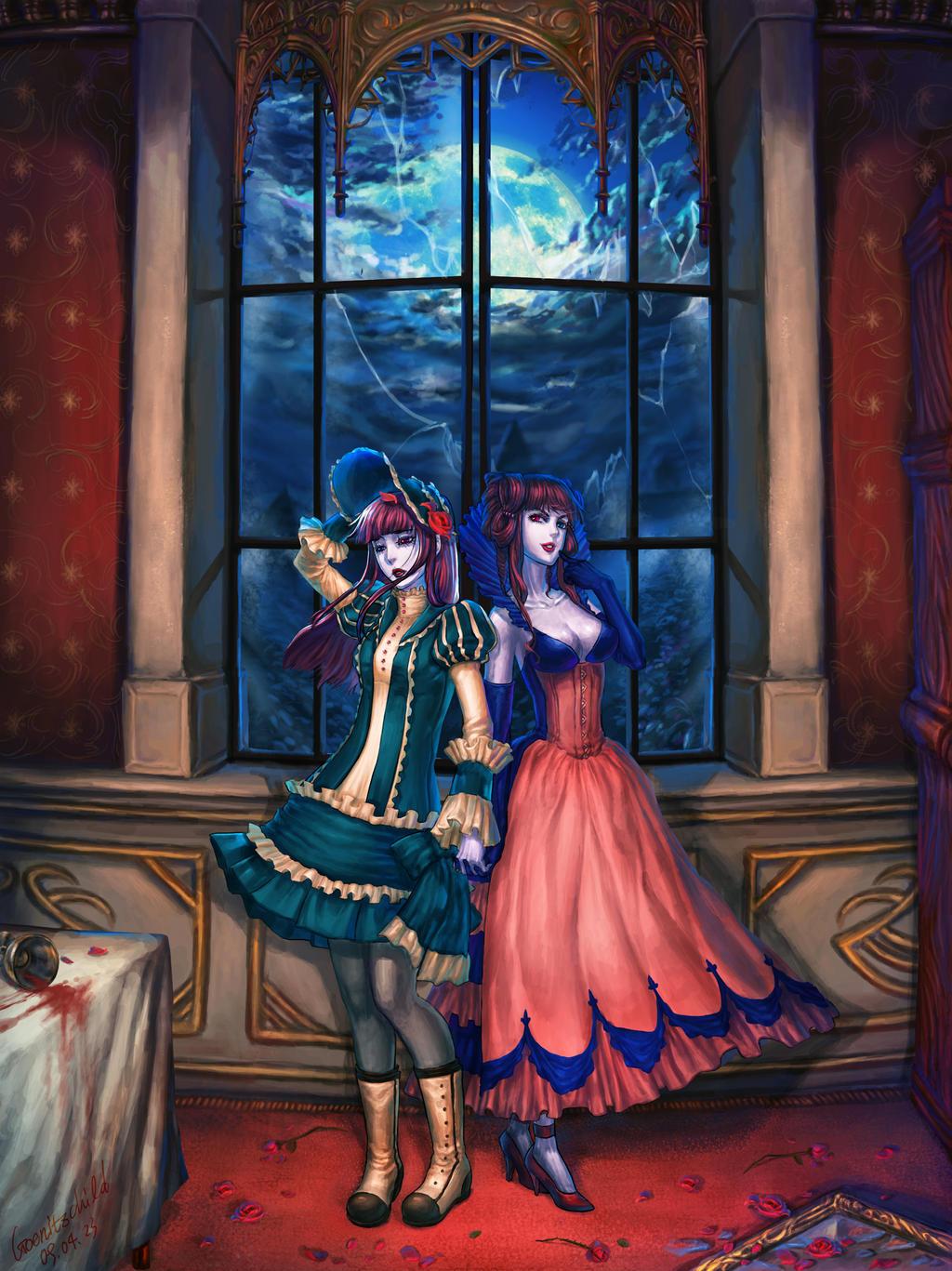 Loretta and Stella by goenitzchild