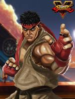 Ryu Street Fighter V fanart by Raydash30