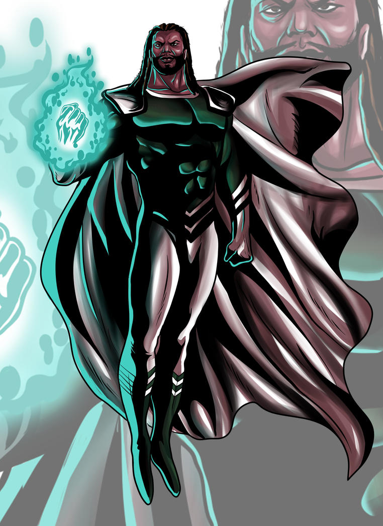 Character Design Commission  (Black Super Hero) by Raydash30