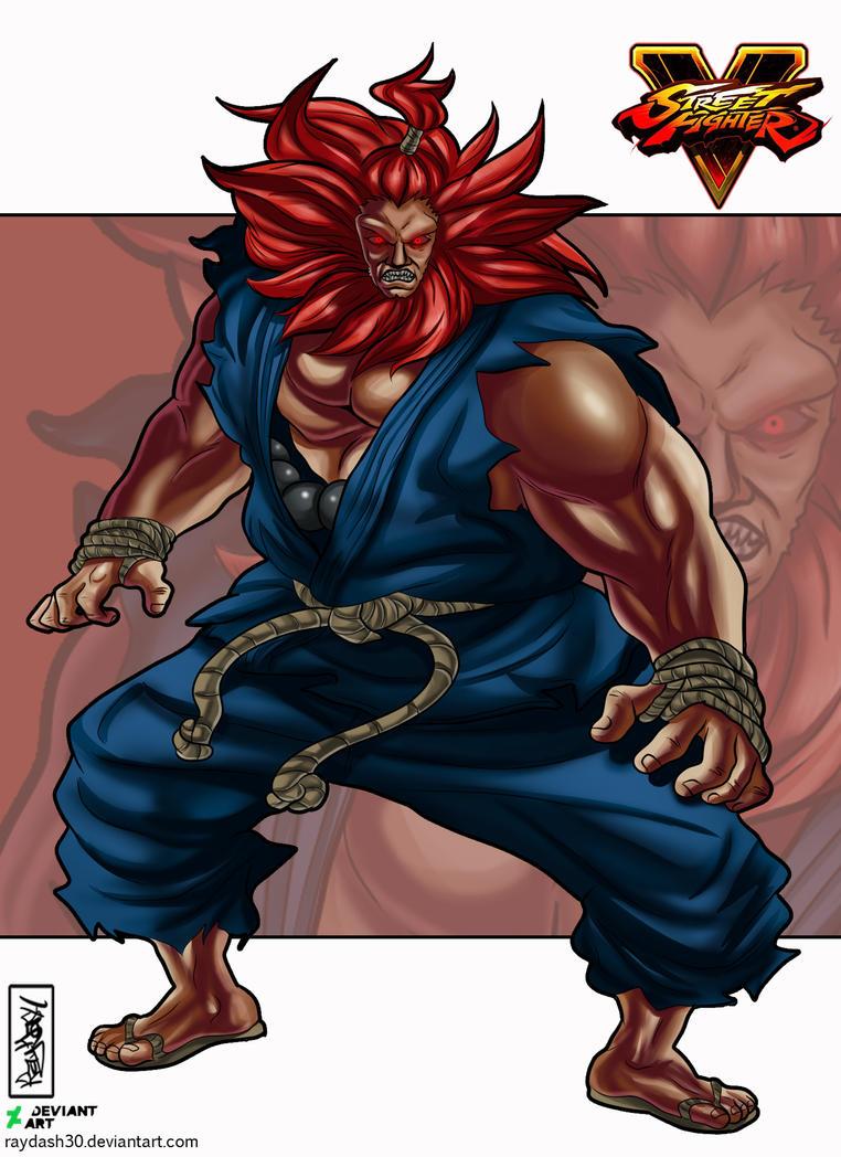 Akuma Artwork Illustration Street Fighter V by Raydash30