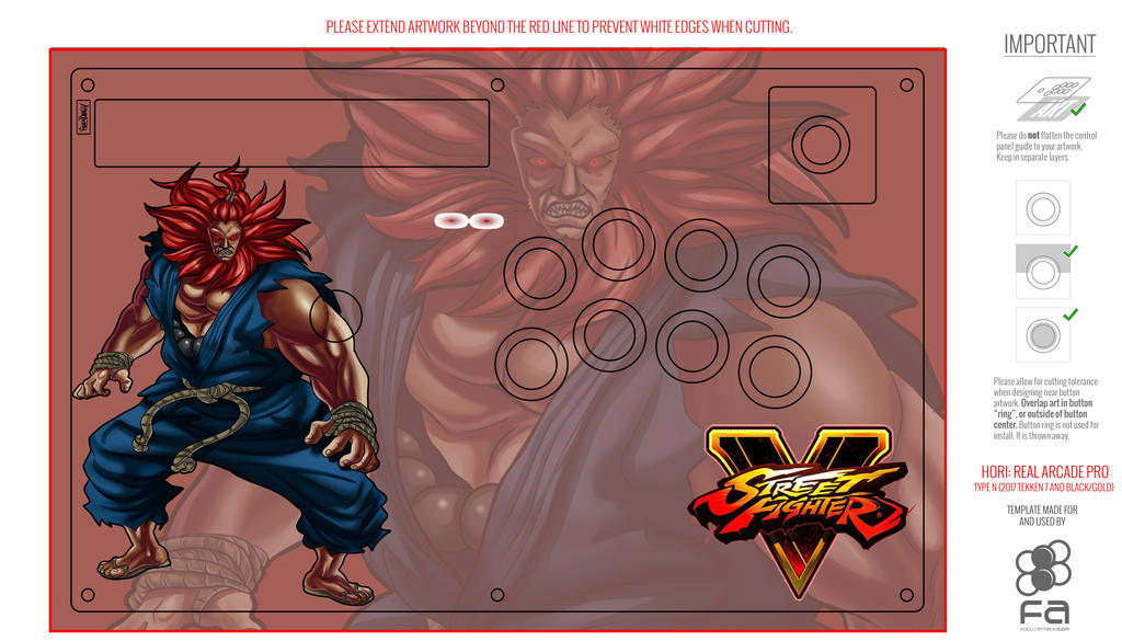 Real Arcade Pro Customize design template Cover by Raydash30