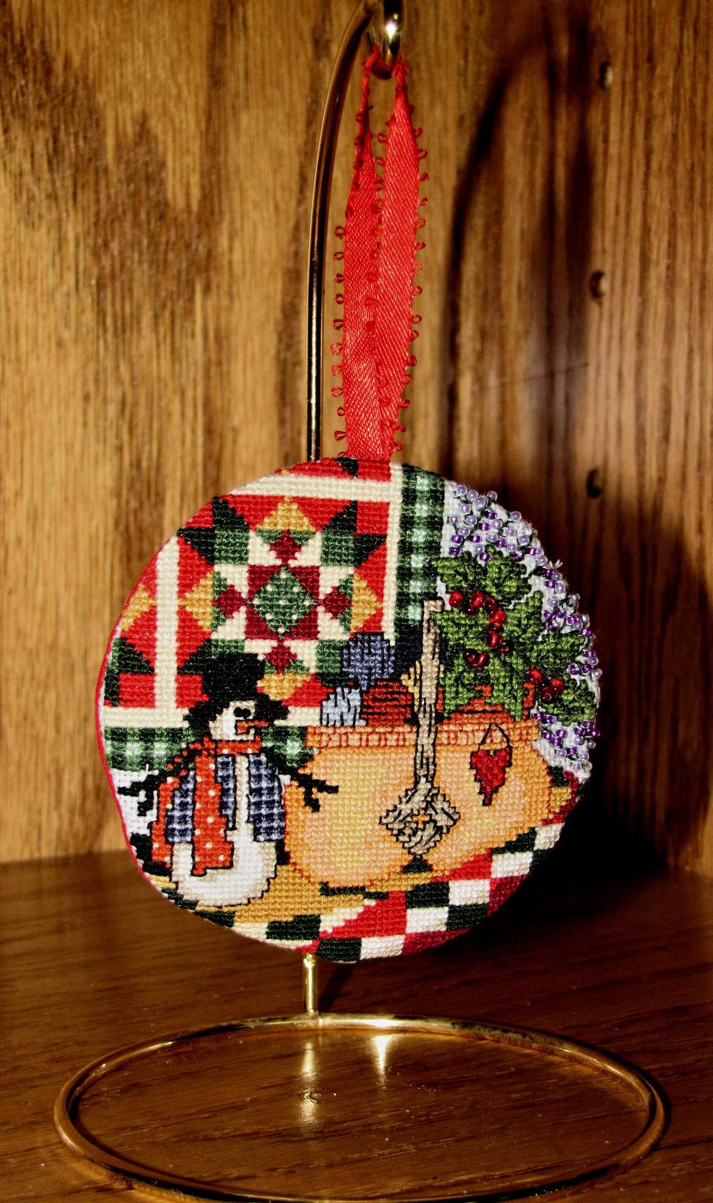 Winter Basket Ornament by Katjakay