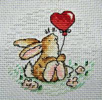 Bunny and Balloon by Katjakay