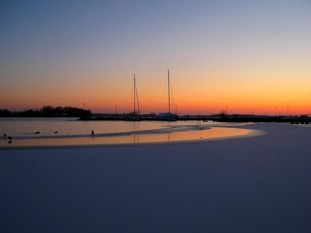 Winter Marina by Photopathica