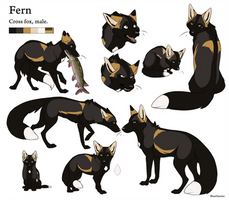 Reference Sheet - Fern by BlueHunter