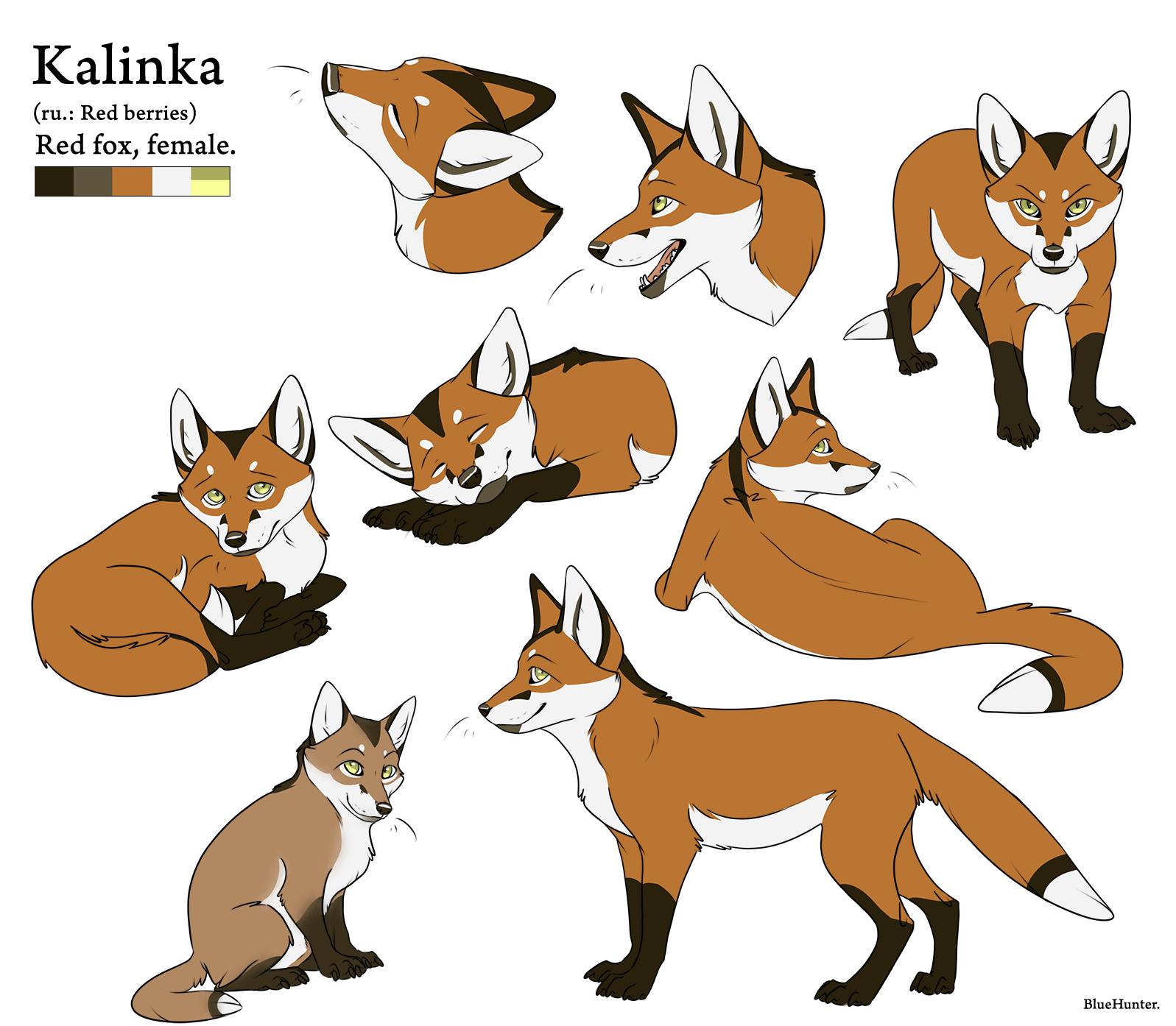 Character Sheet - Kalinka by BlueHunter