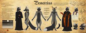 Character Sheet - Demetrius by BlueHunter