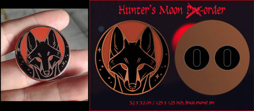 Hunters Moon enamel pin sale
