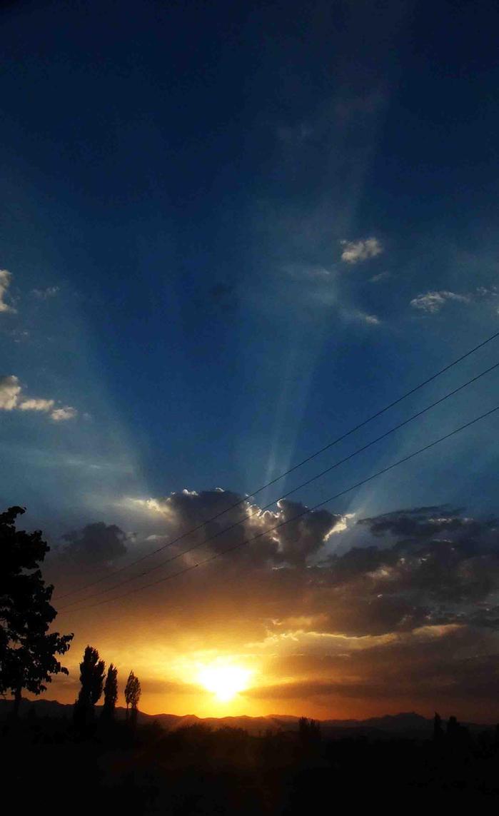 sunset by farzaam