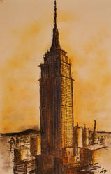 empire state SketcH by farzaam