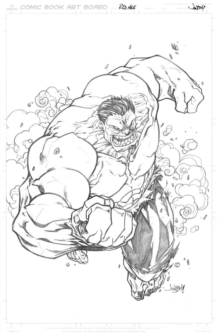 RED Hulk by Jonboy007007