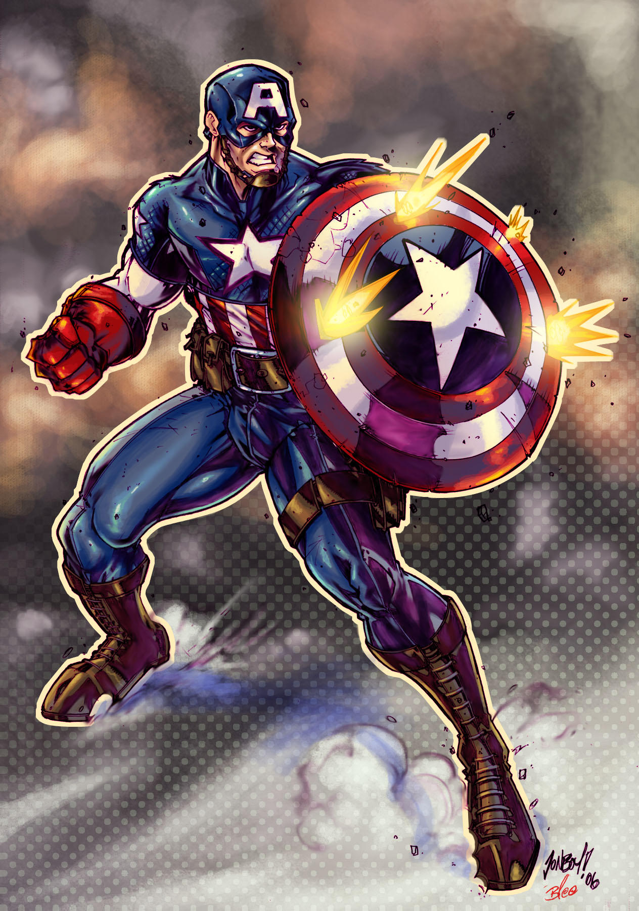 ultimte captain america color by jonboy007007 on deviantart
