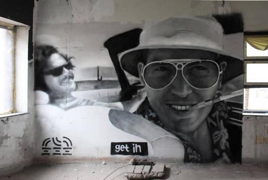 Mural - Johnny Depp Fear and Loathing in Las Vegas