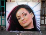 Rihanna - Graffiti portrait by mechanism0022