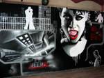 Sin city comic mural