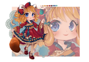 [OPEN] Adopt Auction: Red Panda Girl [+speedpaint] by rosetop46