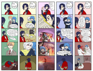 DMMd: Koujaku Despairs by Tofucakes
