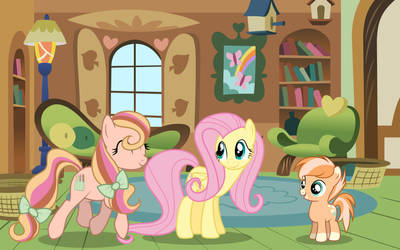 Fluttershy's family by Pugasart