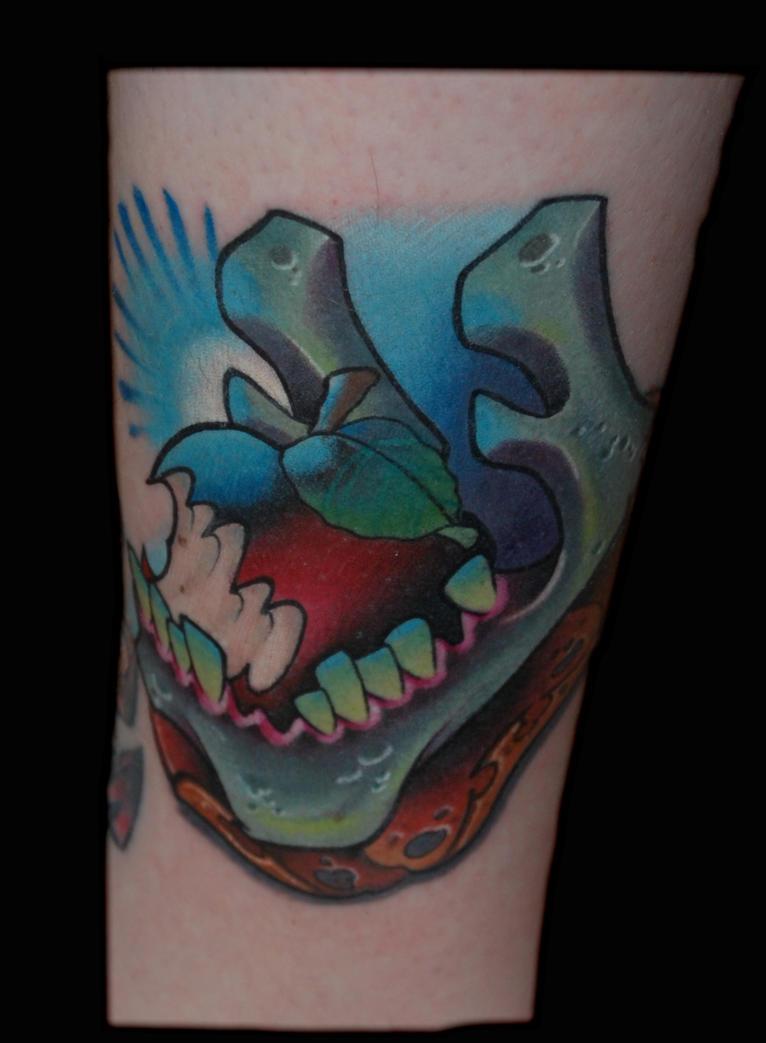 Skull Jaw Tattoo: Jaw Bone Tattoo By Exilink On DeviantArt