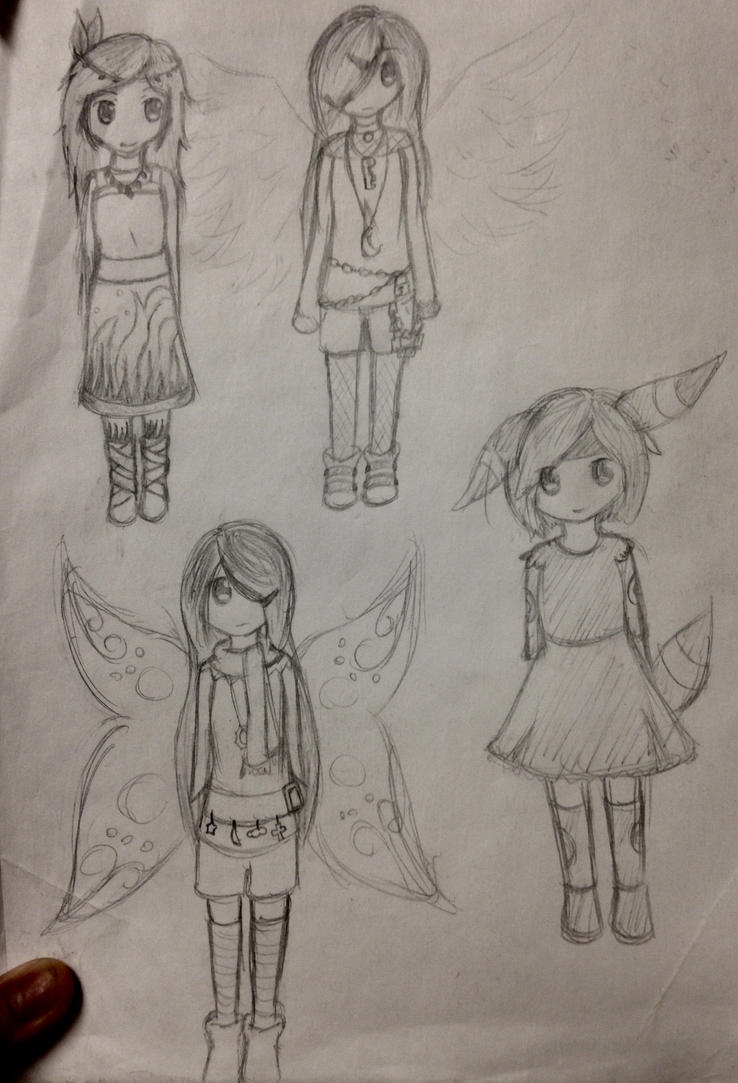 Redraws from OCs from 2012 by Sparkheart1