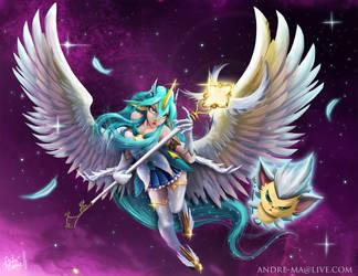 Soraka Star Guardian Fanart by andre-ma