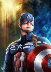 Captain America by andre-ma