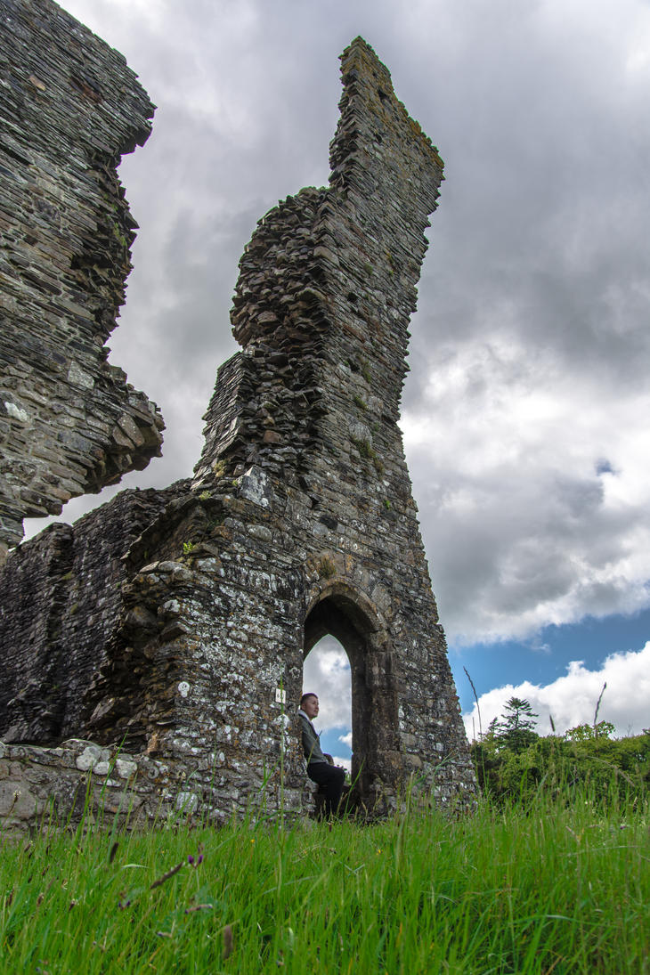 Okehampton Castle II by lordradi