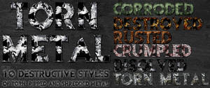 Torn Metal Photoshop Styles
