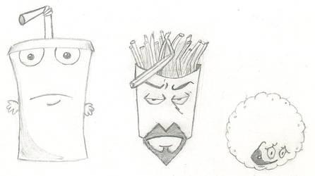 Aqua Teens sketch June 4, 2005 by PrinceOfPwn