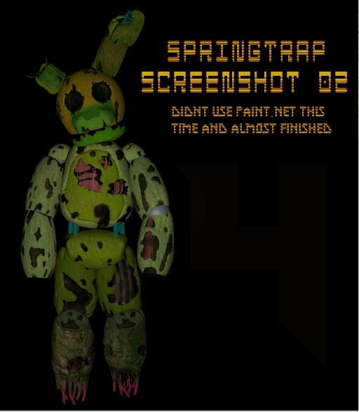 SpringTrap ScreenShot 02 (Model Almost Finished) By