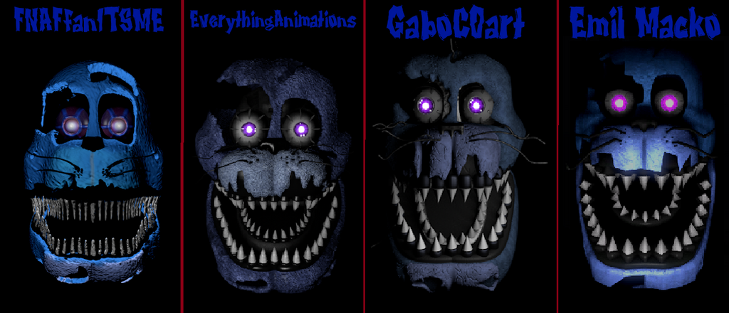 Nightmare Bonnie Head Comparison 605498151 on Minecraft House Blueprints