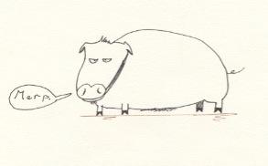 discontent piggy by artwizard133