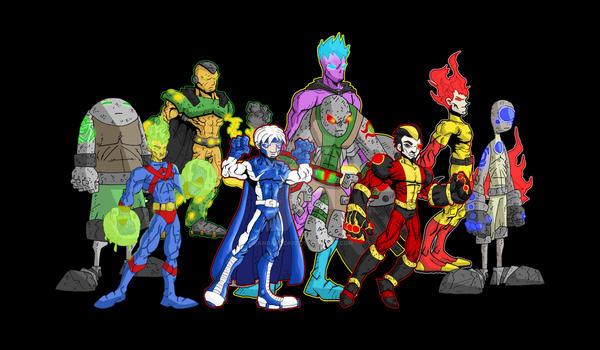 superheroes villains poster I by kangarookid