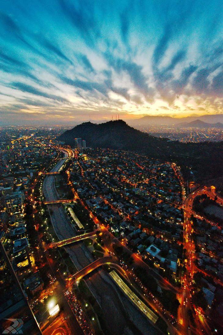 Santiago at dusk by rwetzel