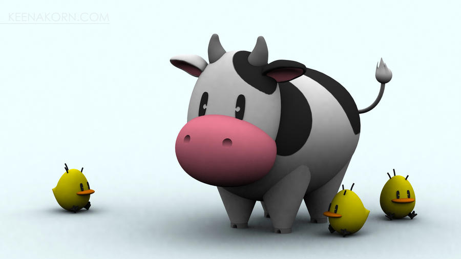 Harvest Moon Cow N' Chicks by keenakorn on DeviantArt