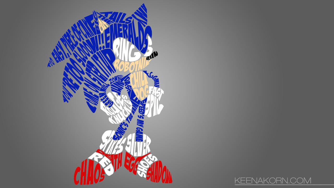 Sonic typography wallpaper by keenakorn